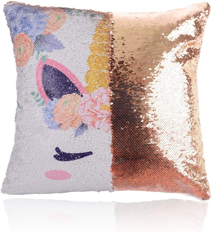 3. Unicorn Reversible Sequin Pillowcase