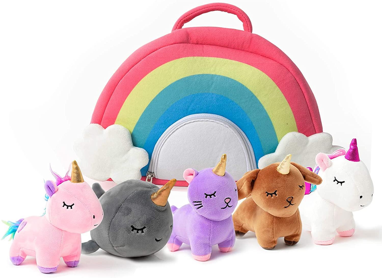 1. Unicorn Stuffed Plushie Set
