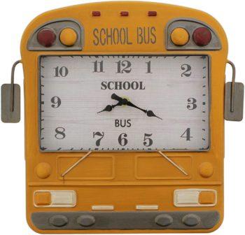 Unique Yellow School Bus Wall Clock