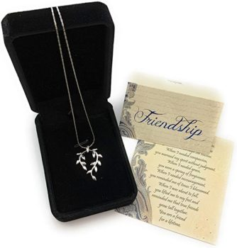 Vine Leaf Necklace Friendship for Encouraging