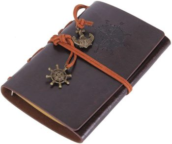 Vintage Leather Notepad Diary