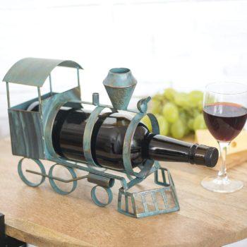 Vintage Train Wine Rack Bottle Holder