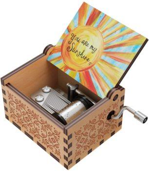 Vintage Wooden Sun Shine Music Box