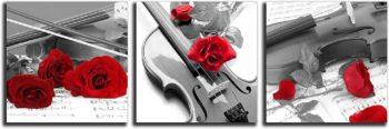 Violin Canvas Print 3 pcs