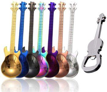 Violin Teaspoon Set with opener