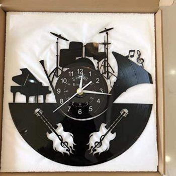 Wall Clock Featuring Music Equipment