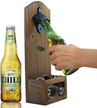Wall Mounted Wooden Bottle Opener