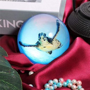 Waltz&F Crystal Sea Turtle Paperweight