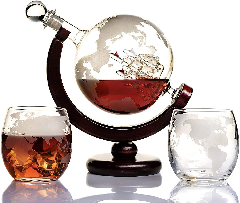 10. Whiskey Globe Decanter Set