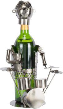 Wine Bottle Holder – Metallic Drummer