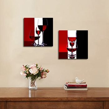 Wine with Cigar Modern Wall Art Paintings