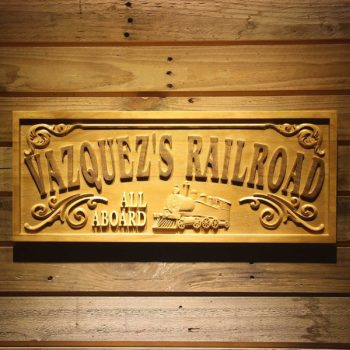 Wooden Rail Road Sign