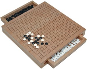 Wooden Set of Go Game with Pullout Drawers