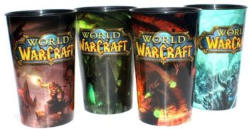 World of Warcraft Collectible Edition Cups Set of All 4