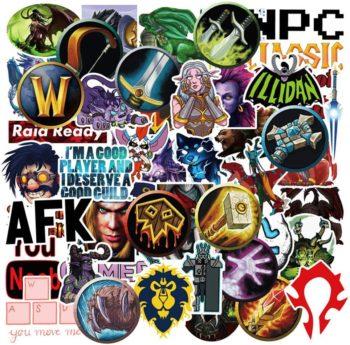 World of Warcraft Popular Game Stickers