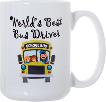 World's Best Bus Driver Lined Deluxe Coffee Tea Mug