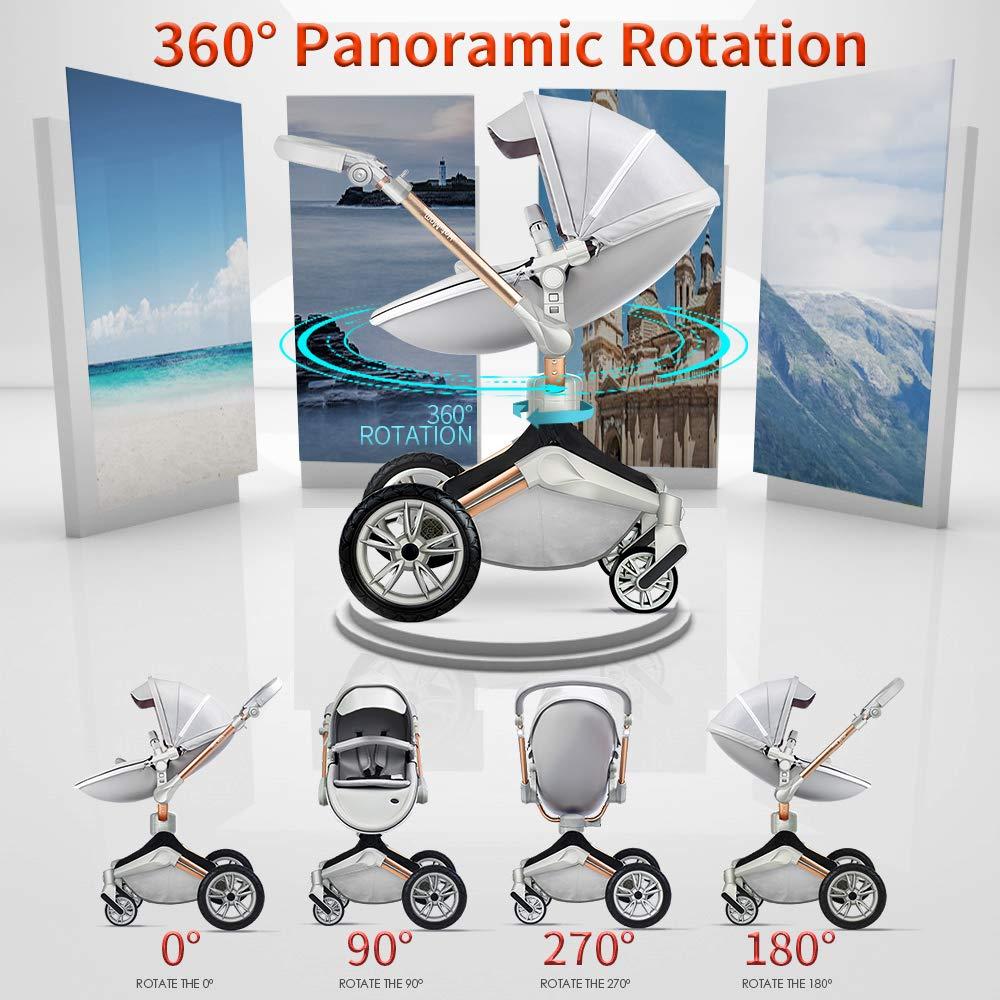 automatically folding stroller