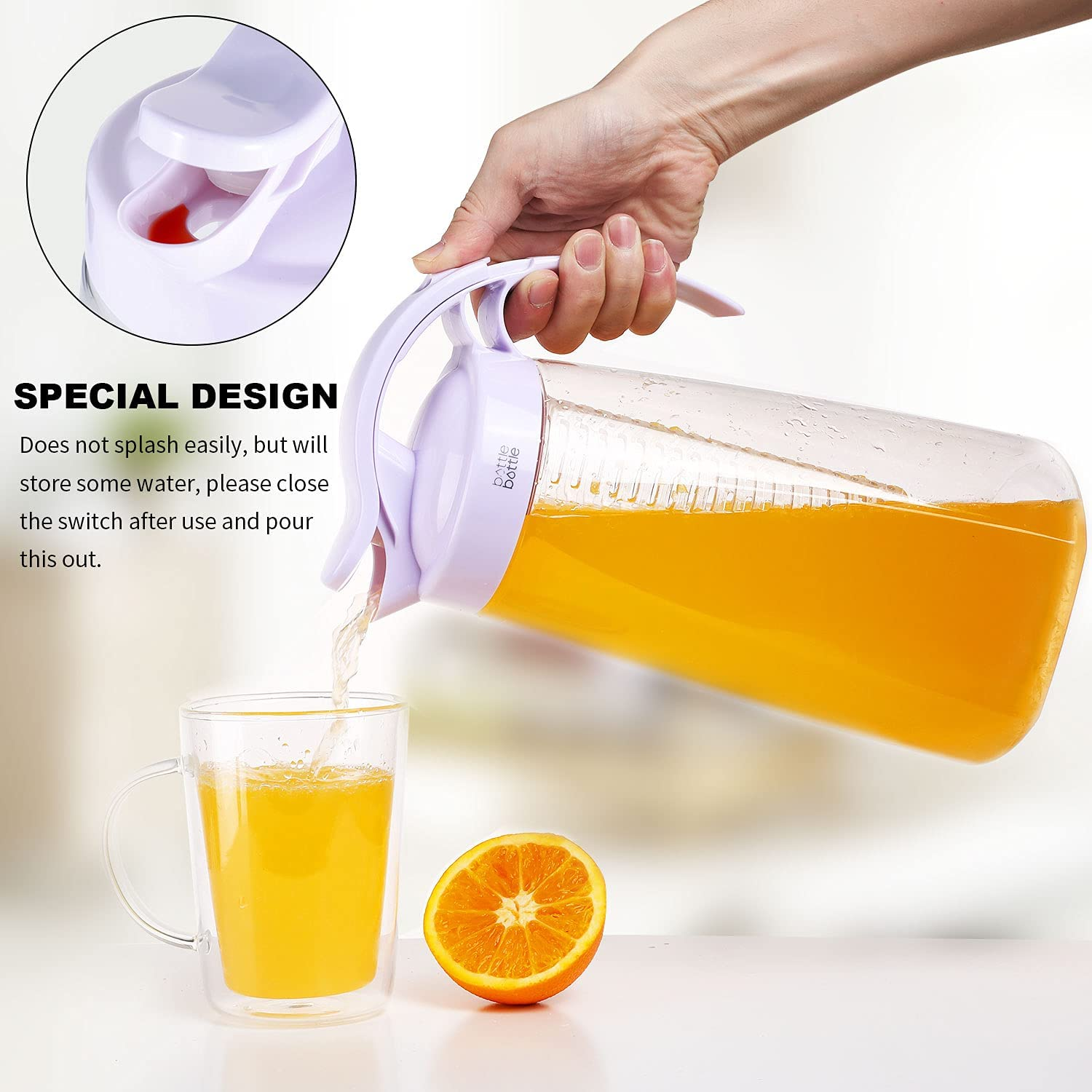 glass fruit infusion pitcher