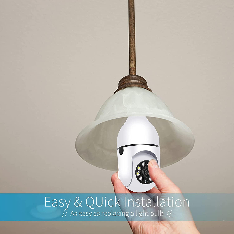 light socket security camera
